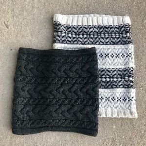 2 GAP neck warmers/scarves